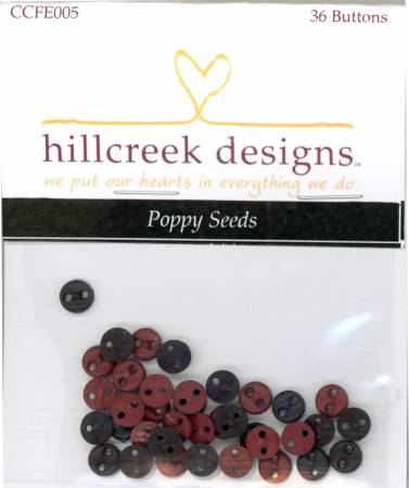 Cottage At Cardiff Farms Poppy Seeds Button Pack