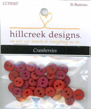 Cottage At Cardiff Farms Cranberries Button Pack