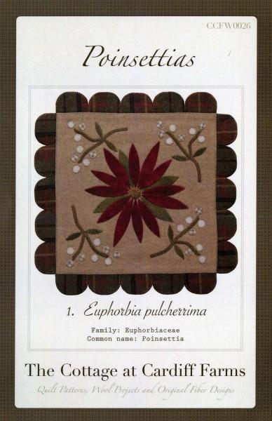 Poinsettias - Wool Mat