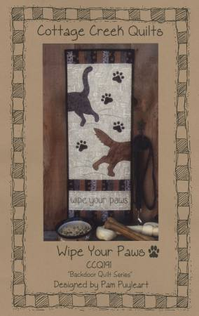 Wipe Your Paws Pattern CCQ191