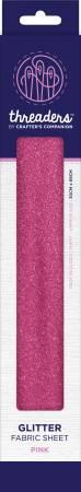Threaders Glitter Fabric Sheet Pink