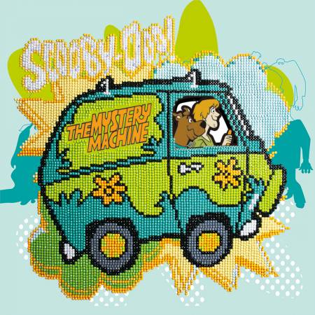 The Mystery Machine Diamond Painting Kit 12.6in x 12.6in