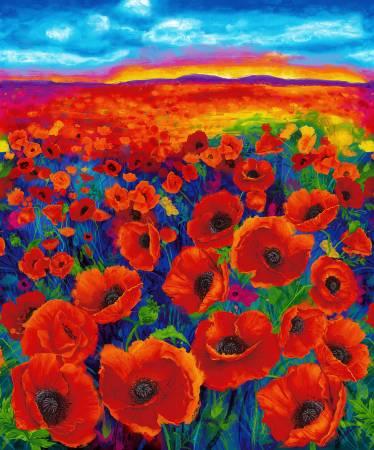 Bright Poppy Digitally Printed Panel 36in