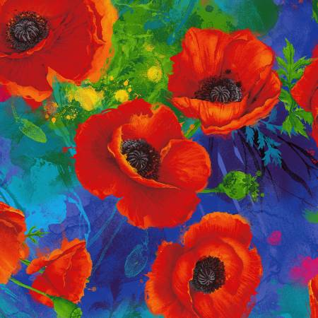 Royal Poppy Digitally Printed
