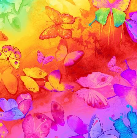 Bright Butterflies Digitally Printed