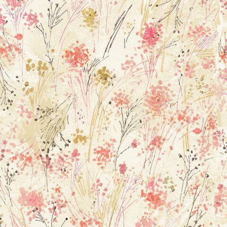 Cream Floral Digitally Printed
