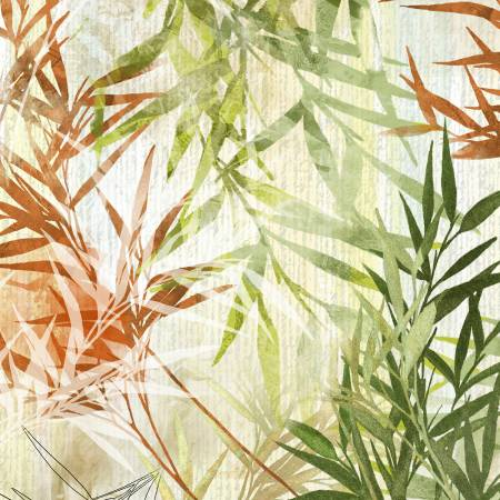 Multi Botanical Leaves Digitally Printed