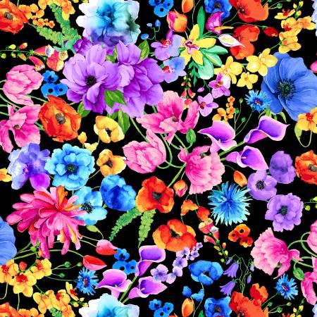 Black Garden Floral