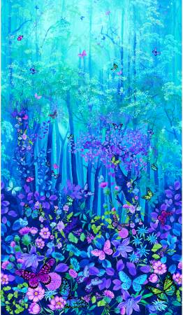 Forest Magic Panel BLUE
