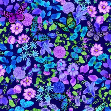 Forest Magic Lrg Butterflies BLUE