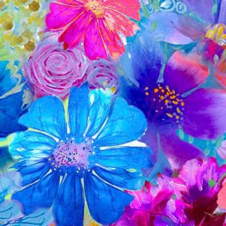 Multi Large Floral Paint Paradise