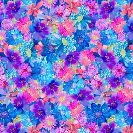 Painted Paradise Fleur Multi Small Floral  Multicolor CD871