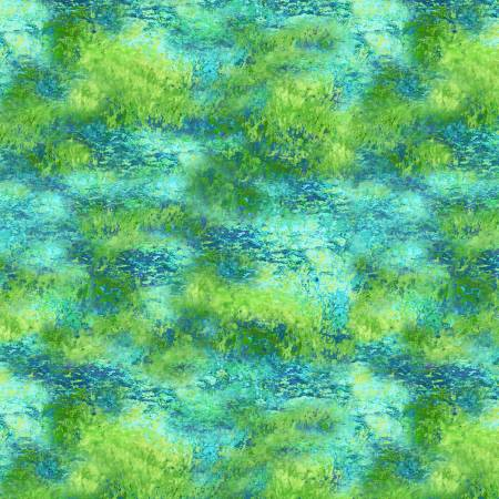 Painted Paradise Green Monet Texture Painted Greenery CD8718 Green