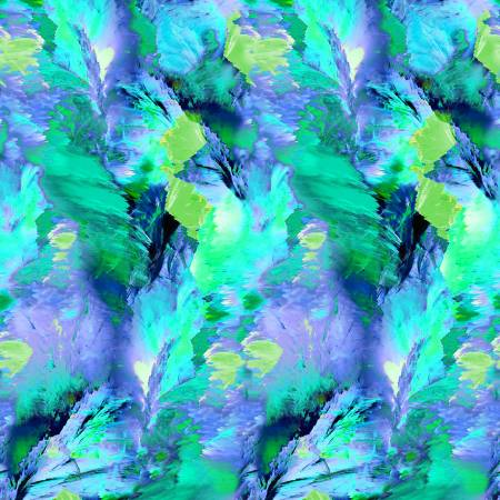 Painted Paradise Green Large Mountain Paint Strokes CD8719 Green