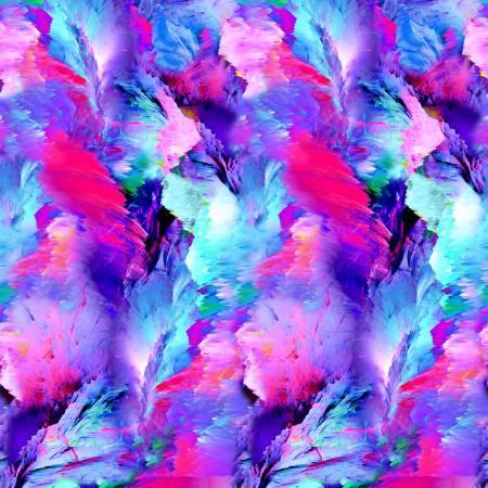 Painted Paradise Purple Large Mountain Paint Strokes CD8719 purple
