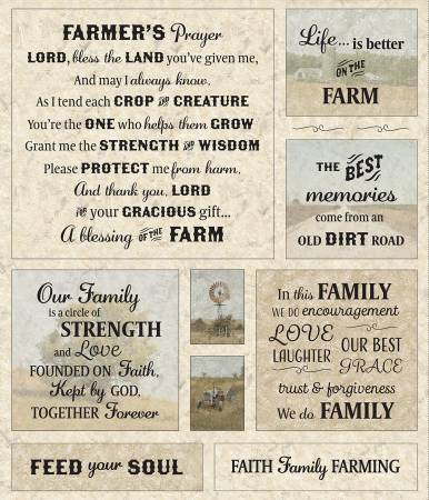 Canyon Farmer'S Prayer Panel