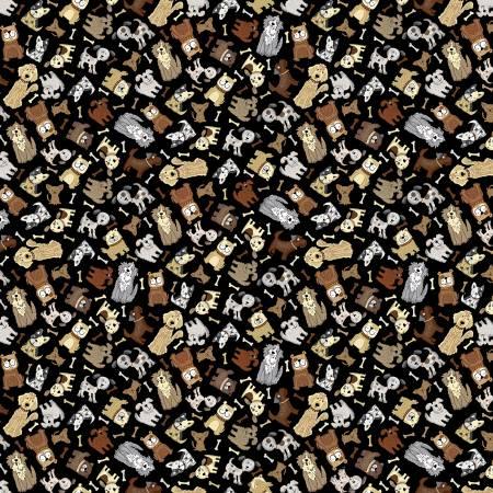 Black Mini Neutral Dogs
