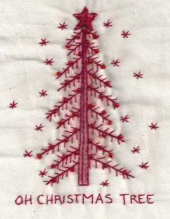 Tree Redwork #02R by Chickadee Hollow Designs