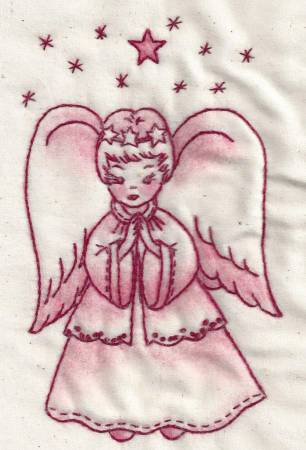 Believe Angel Redwork #05R by Chickadee Hollow Designs