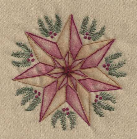 Star With Greens Tea Dye #20T by Chickadee Hollow Designs