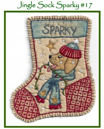 Chickadee Hollow Designs Jingle Sock Sparky #17