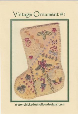 Vintage Christmas Ornament #1 - Stocking