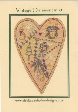 Vintage Christmas Ornament #10 - Prim Heart
