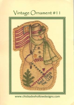 Vintage Christmas Ornament #11 - Snowman