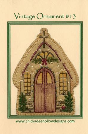 Vintage Christmas Ornament #13 - Church