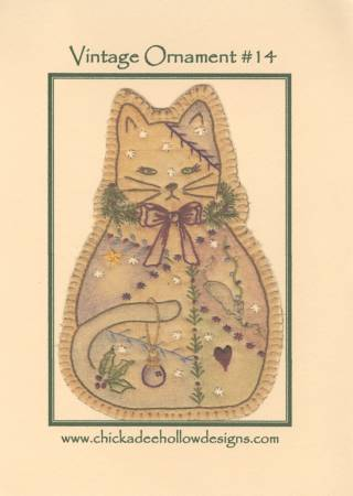 Vintage Christmas Ornament #14 - Kitty