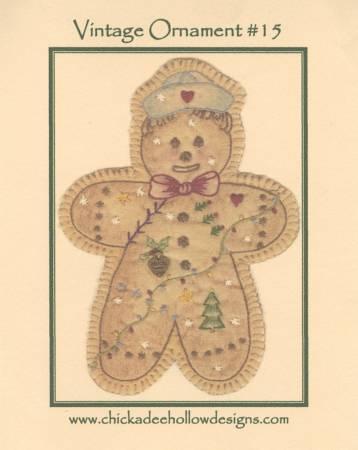 Vintage Christmas Ornament #15 - Gingerbread Boy