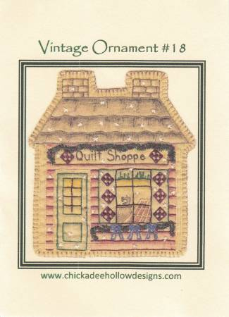 Vintage Christmas Ornament #18 - Quilt Shop
