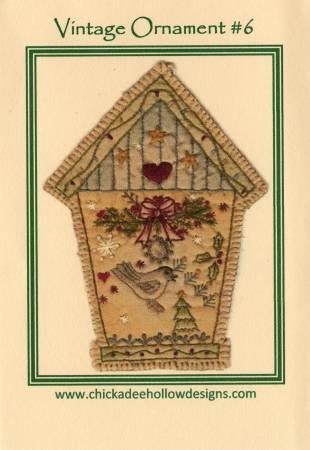 Vintage Christmas Ornament #6 -  Birdhouse