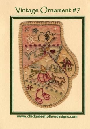 Vintage Christmas Ornament #7 - Mitten