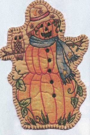 Vintage Autumn Pumpkin Lady