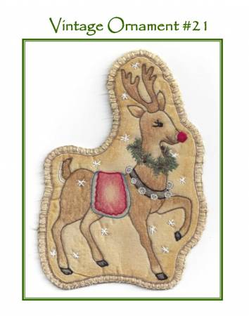 Chickadee Hollow Designs Vintage Christmas Santa's Reindeer