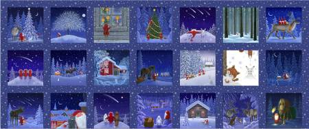 Tomten's Christmas - Snowy Scenes 5in Squares Panel Digital CE1