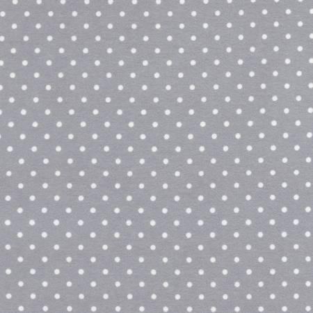 Grey Polka Dot Flannel