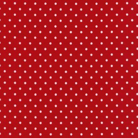 Red Polka Dot Flannel by Timeless Treasures