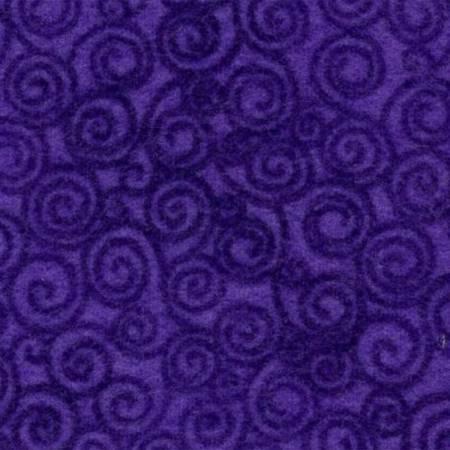 Violet Tonal Spirals Flannel