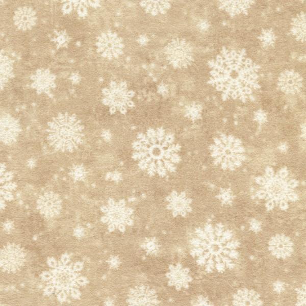 Beige Snowflakes Flannel