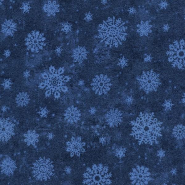 tt cf4529 Blue Snowflakes Flannel