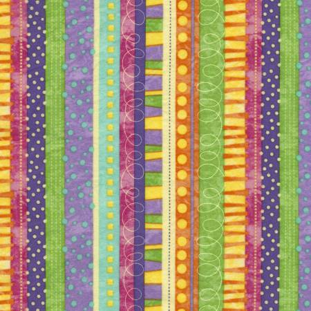 Funky Stripe Flannel Purple