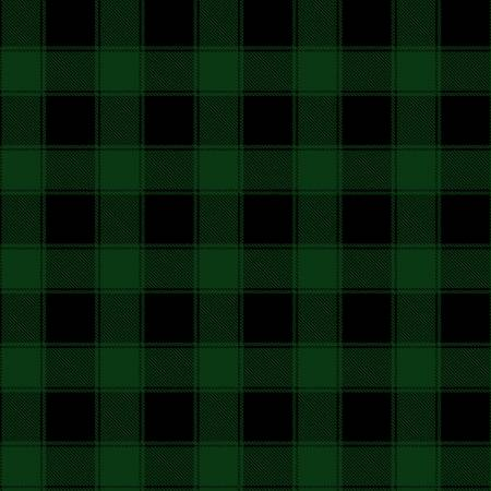 Green Plaid on Flannel