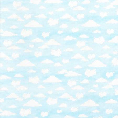 Friendship Blossoms Flannel Cloud Animals Sky BUNNIES-CF5824-SKY