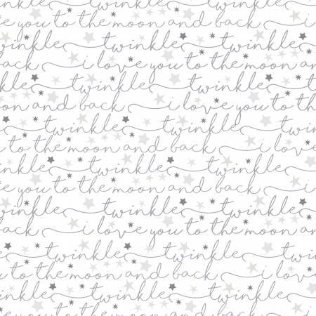 Fabric Air Script Flannel White