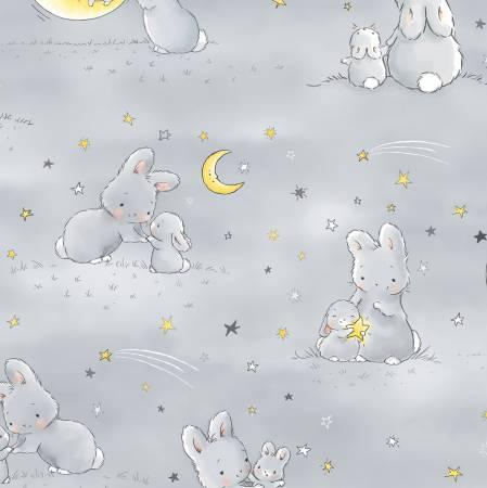 Bunnies CF6453 Gray Flannel