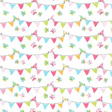 Pennant Party Flannel  CF74220-PINK