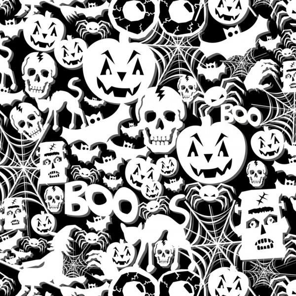 Black Halloween Glows in the Dark