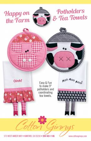 Happy On The Farm Potholders & Tea Towels